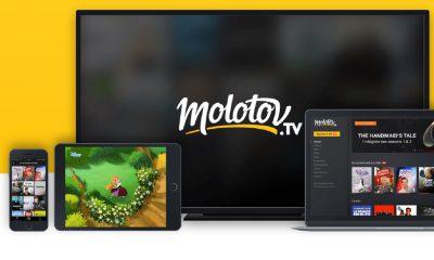 Capture d'écran sur le site de Molotov