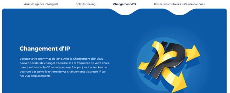 Changement IP HideMyAss