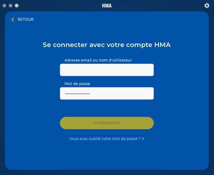 Connexion HideMYAss