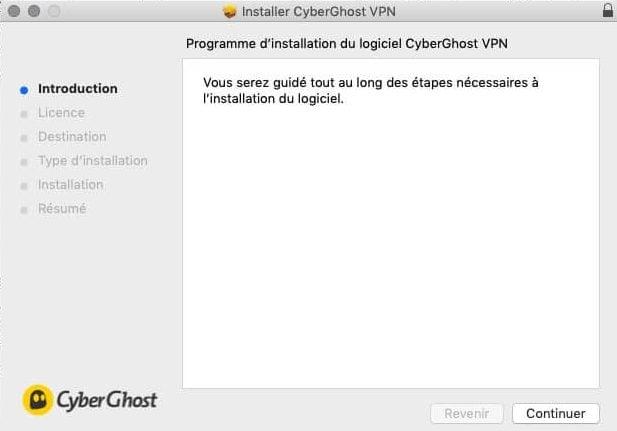 CyberGhost avis installation