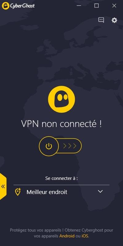 CyberGhost deconnecte