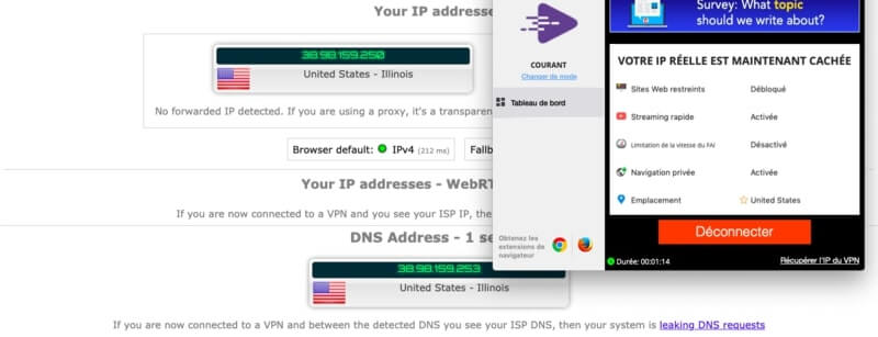 IP US test pureVPN