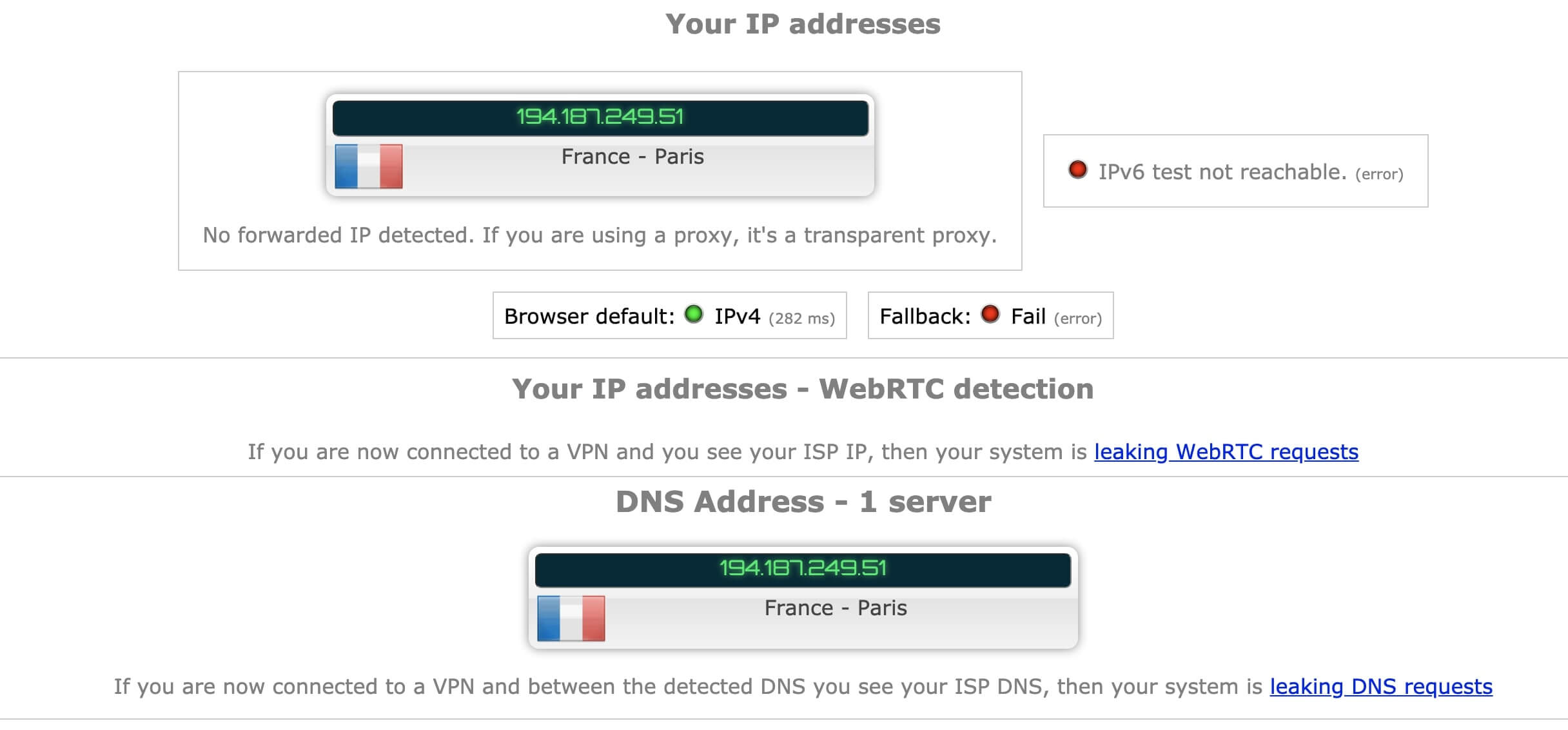 IP avis Private Internet Access
