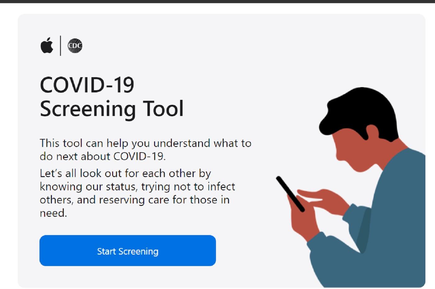 L'outil d'iformations sur le COVID-19 d'Apple
