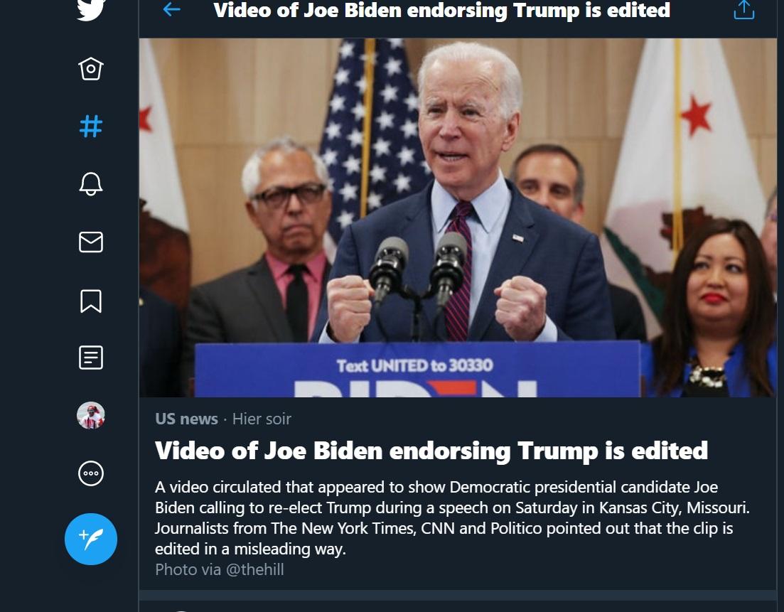 Médias manipulés sur Twitter