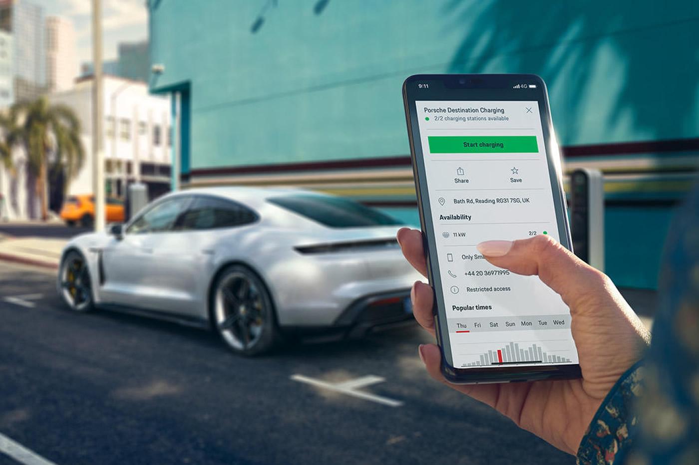 Porsche recharge a destination