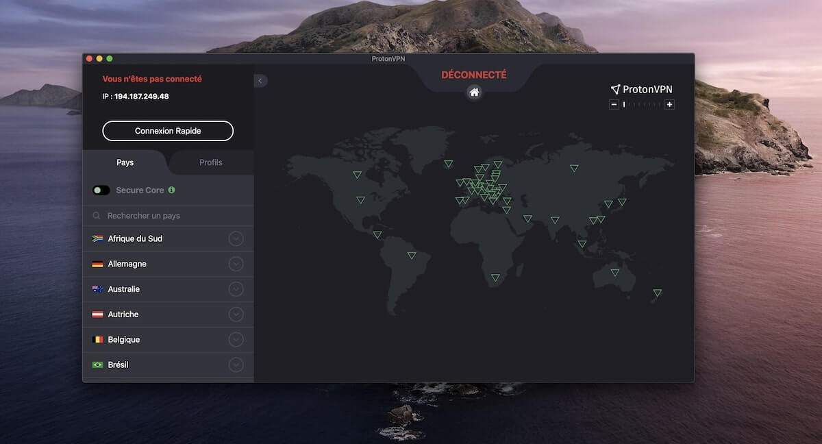 ProtonVPN Darmowy Mac VPN