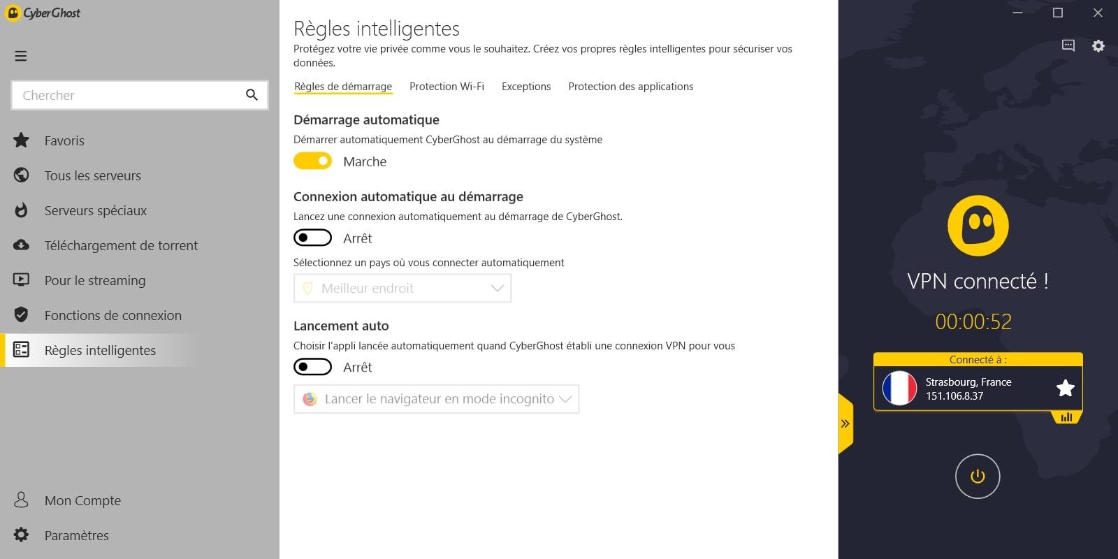 Regles intelligentes Cyberghost (1)