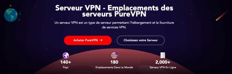 Serveurs PureVPN tests