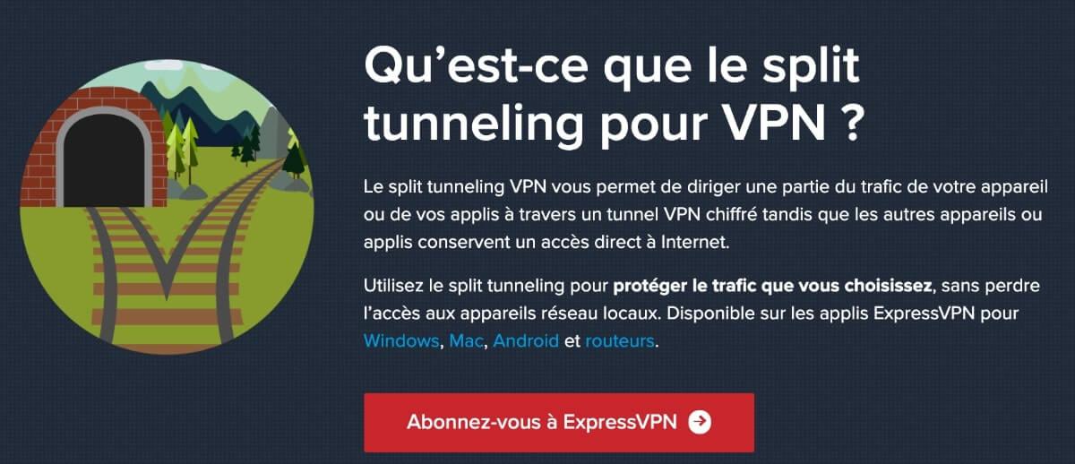Split tunneling ExpressVPN