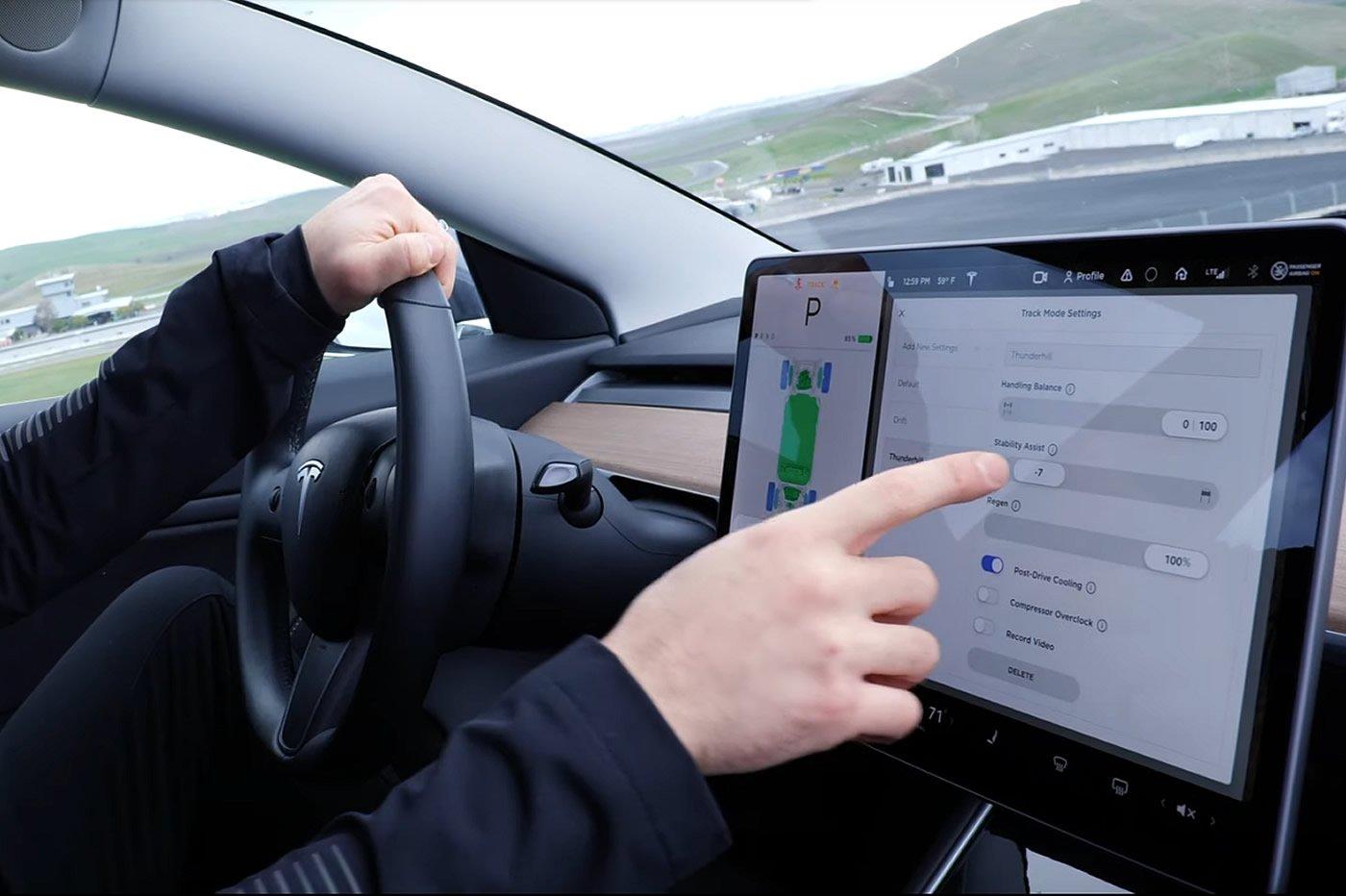 Tesla Model 3 Track Mode Piste V2