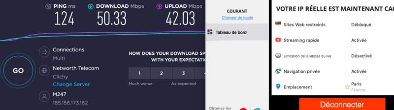 Test vitesses France PureVPN