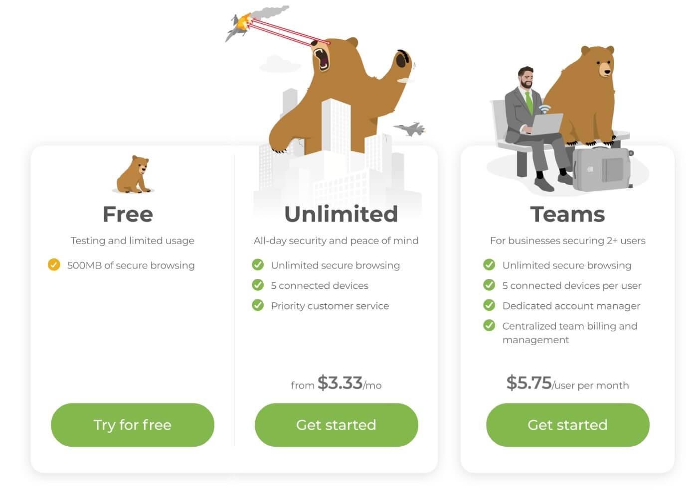 TunnelBear VPN gratuit