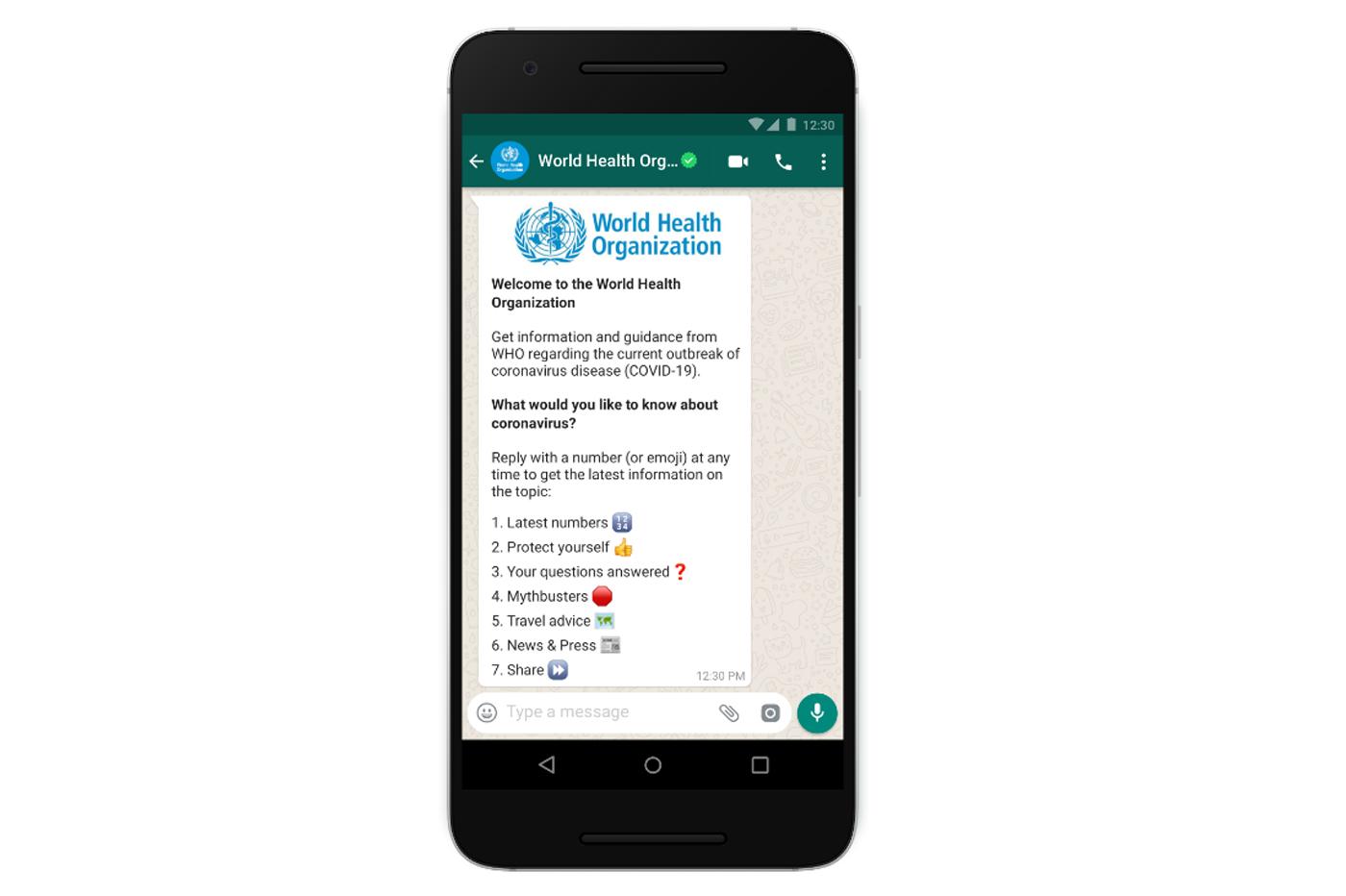 WhatsApp s'associe à l'OMS pour éradiquer les fake news concernant le COVID-19
