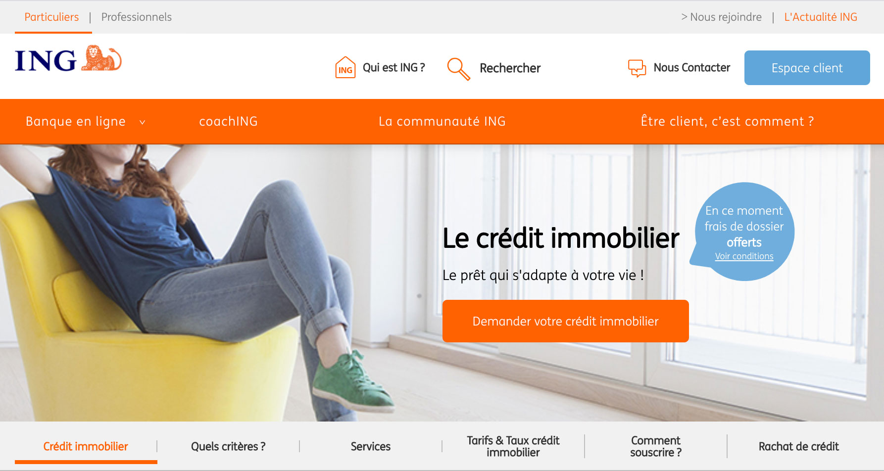 Prêt immobilier ING