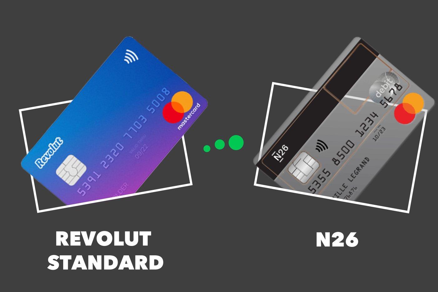 N26 Vs Revolut Standard Comparatif Des Cartes Gratuites