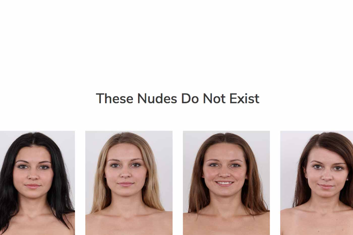 startup These Nudes Do Not Exist nudes femmes