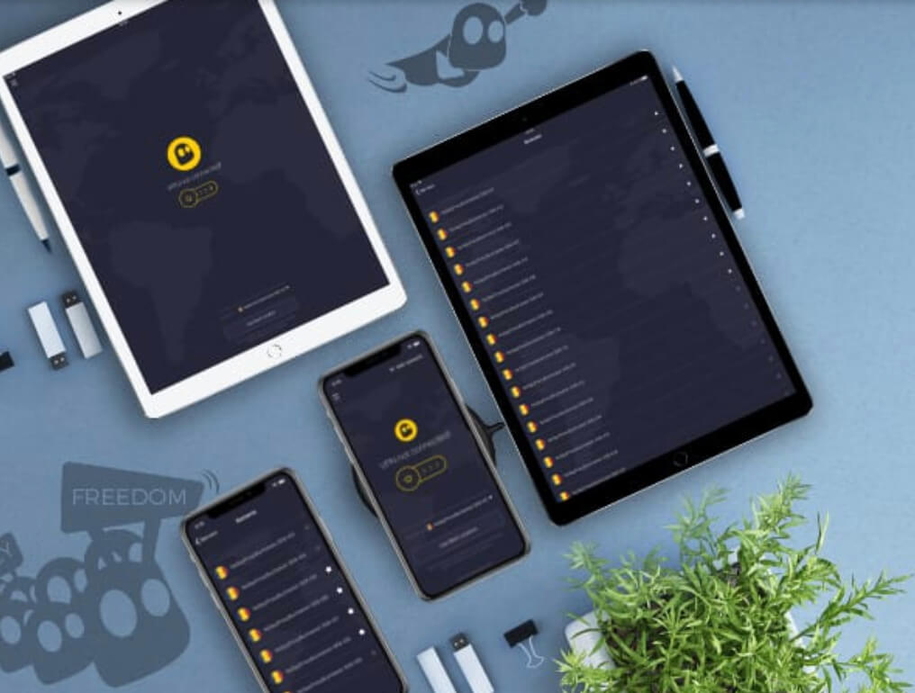Application CyberGhost tablettes smartphones
