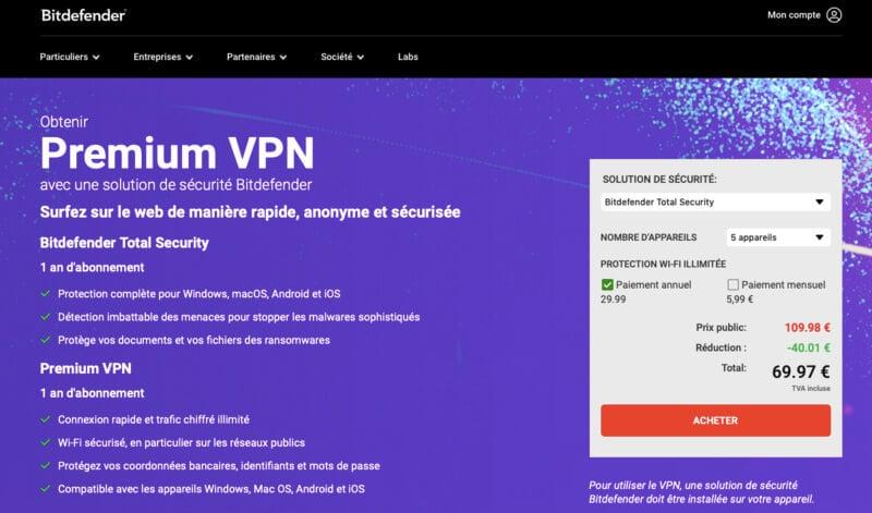 Avis Bitdefender VPN