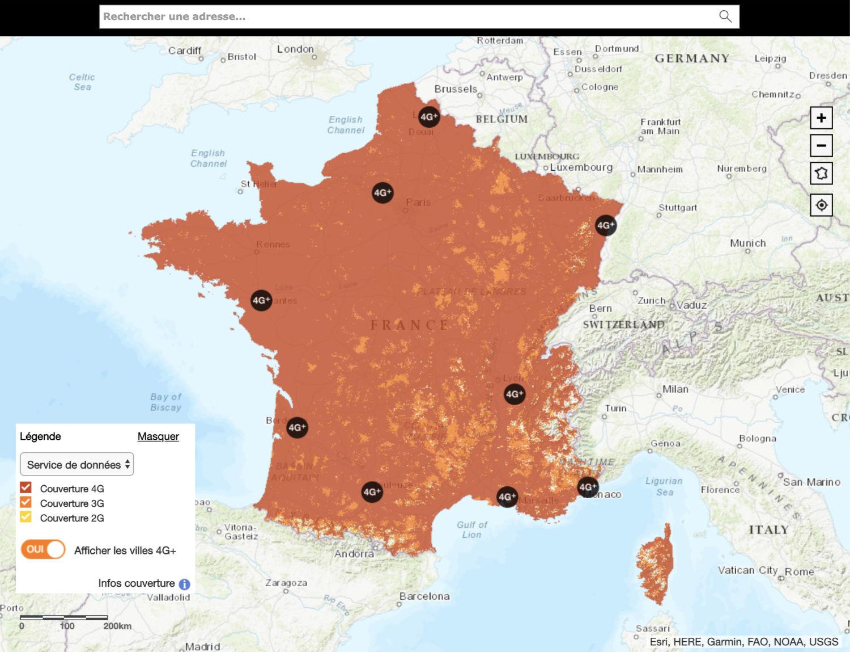 Couverture réseau Orange Prixtel