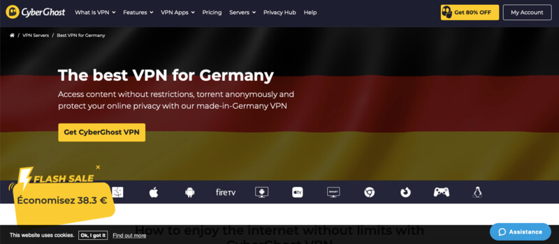 CyberGhost VPN Allemagne