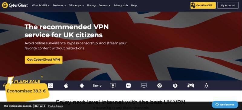 CyberGhost VPN UK