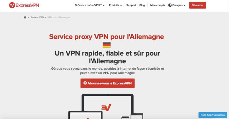 ExpressVPN VPN Allemagne