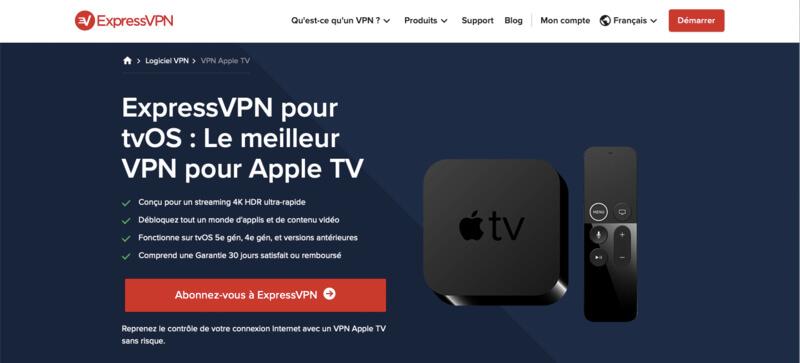 ExpressVPN VPN Apple TV