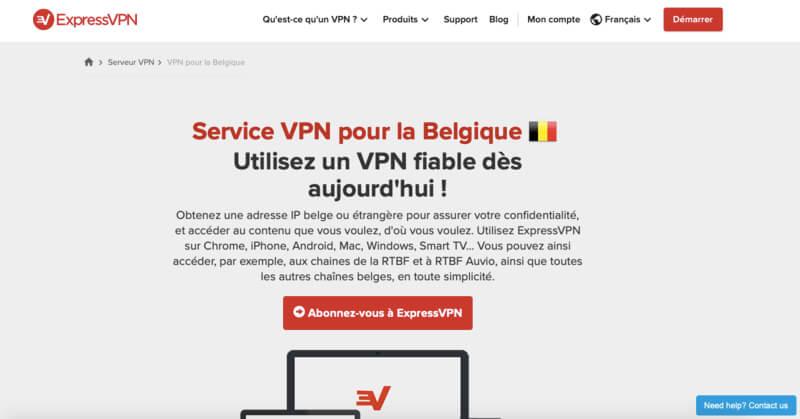 ExpressVPN VPN belgique