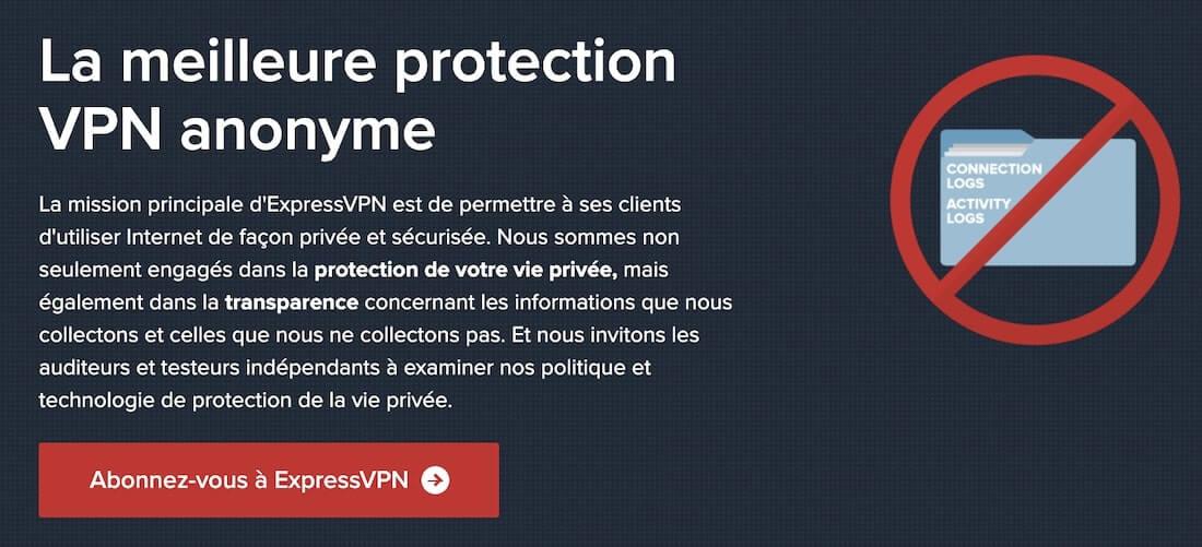 ExpressVPN no log VPN