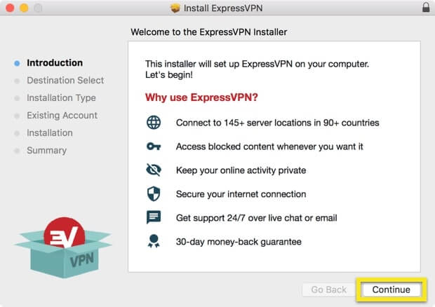 Installation ExpressVPN 1