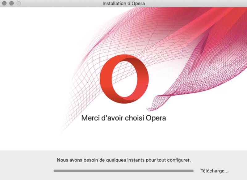 Installation Opera VPN