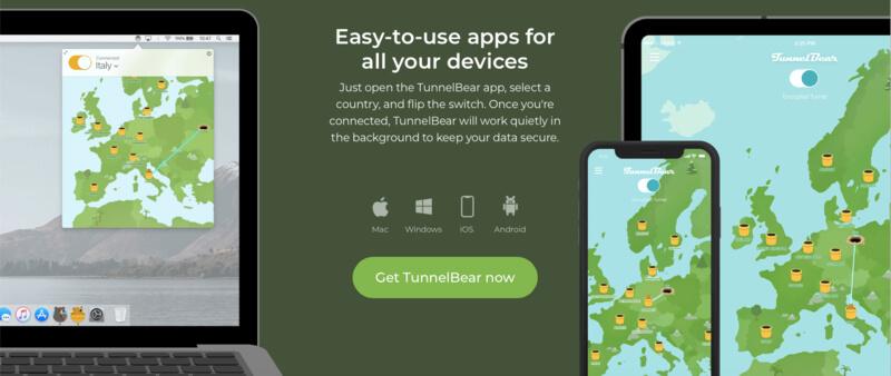 Installation VPN gratuit TunnelBear
