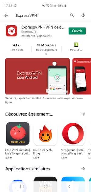 Installation VPN sur Android