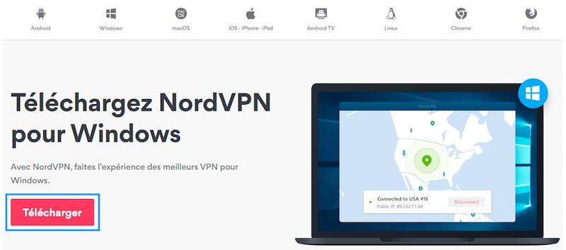 Installer NordVPN Windows