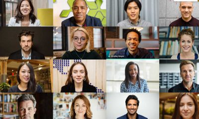 L'affichage en grille avec 16 participants dans Google Meet