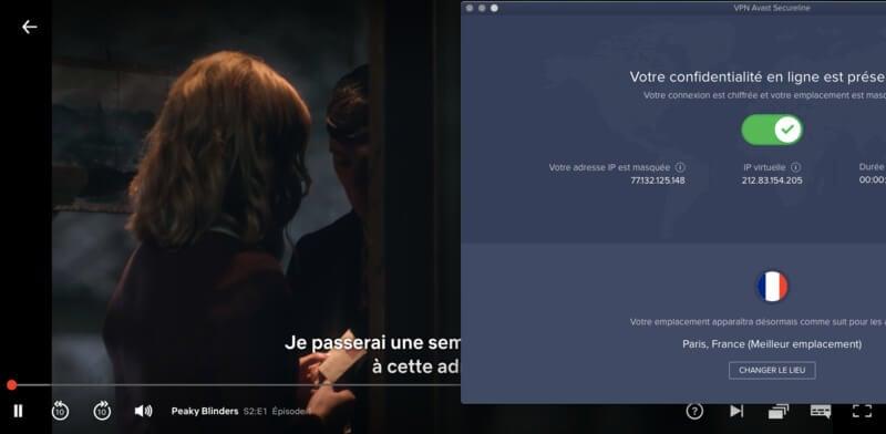 Netflix streaming avast VPN
