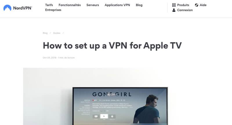 NordVPN VPN AppleTV