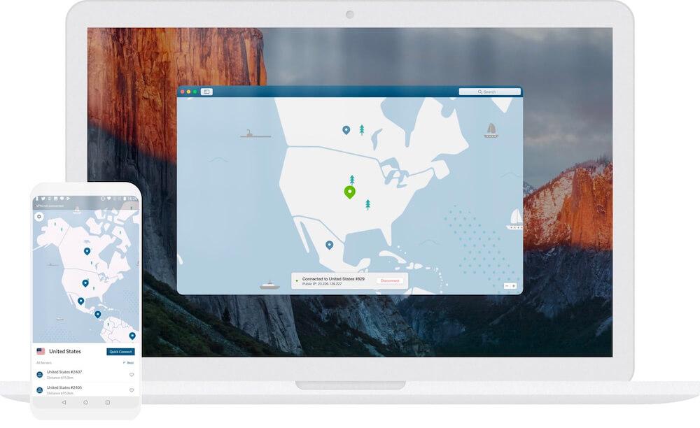 NordVPN interface Apple