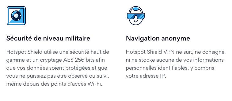 Sécurité Hotspot Shield