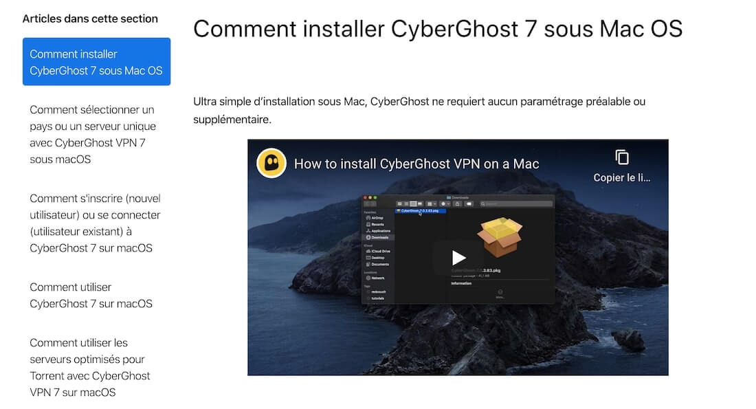 Support cyberghost