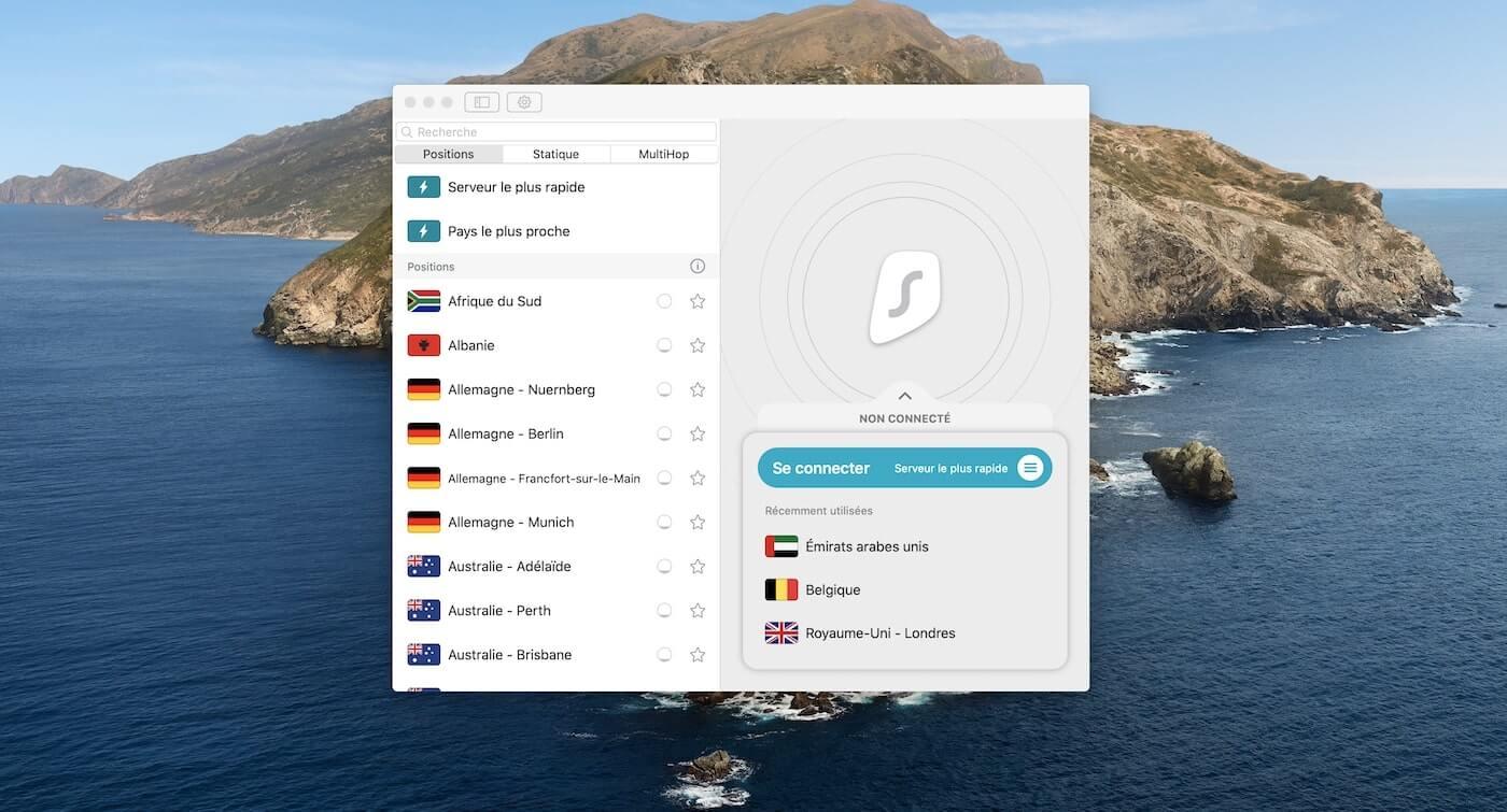 Surfshark Mac App off