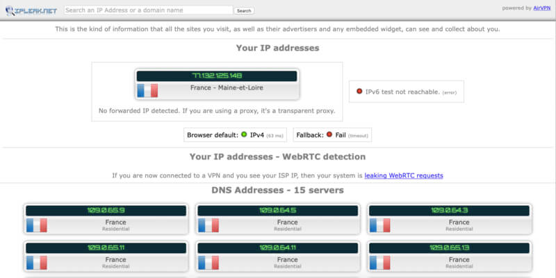 Test IP VPN gratuit TunnelBear off