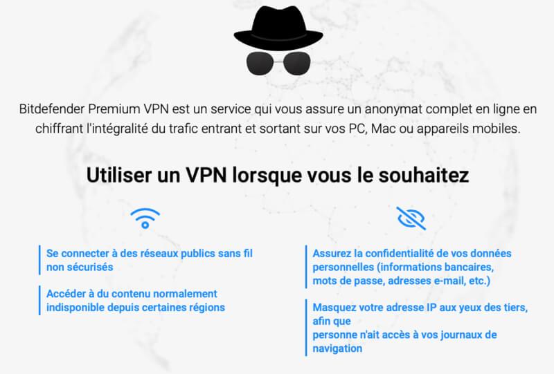 Utilisation Bitdefender VPN