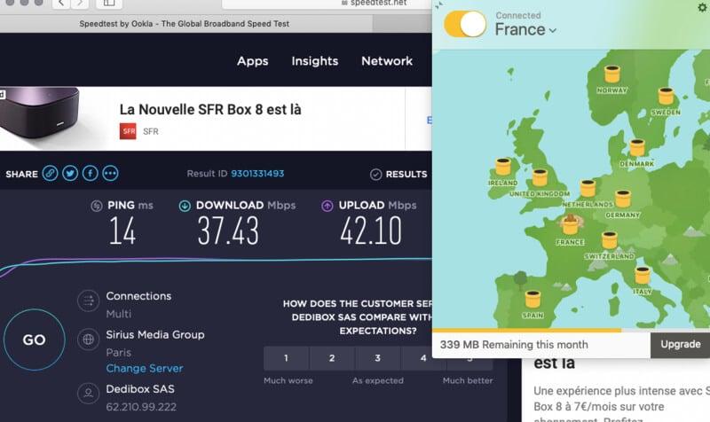 Vitesse VPN gratuit TunnelBear France