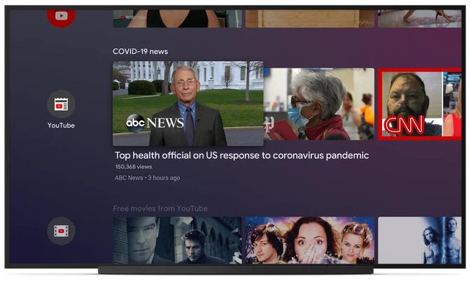 Android TV Google coronavirus