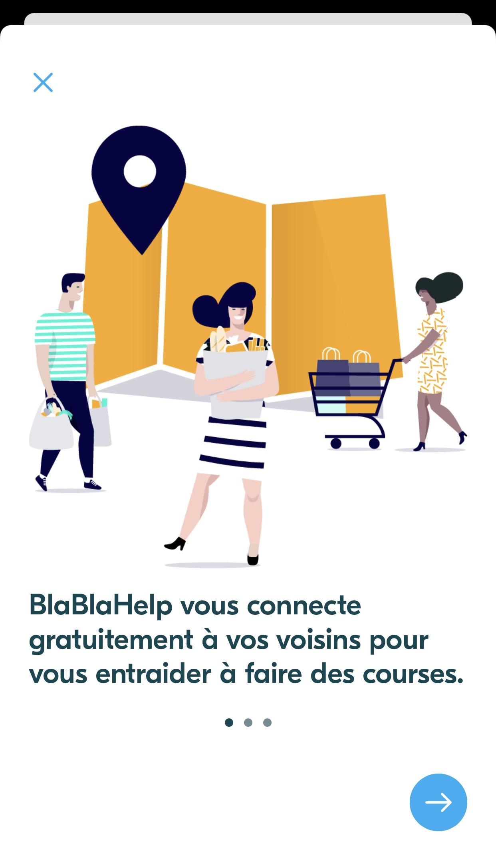 BlaBlaCar application BlaBlaHelp accueil