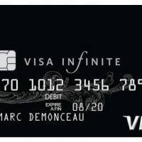 Black card Visa Infinite