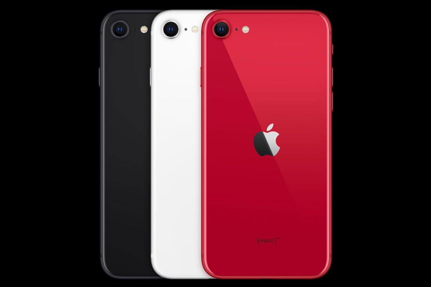 Coloris iPhone SE 2020