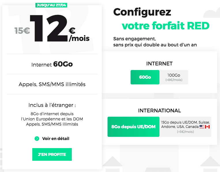 forfait mobile RED by SFR promo